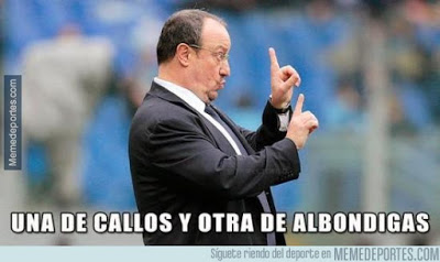 rafa benitez gordo Los mejores memes del Real Madrid-Milan. International Champions Cup