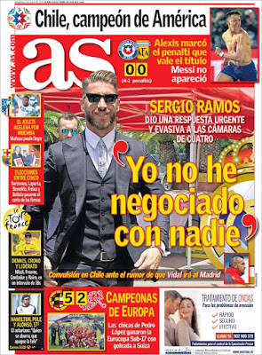 Portada AS: Sergio Ramos