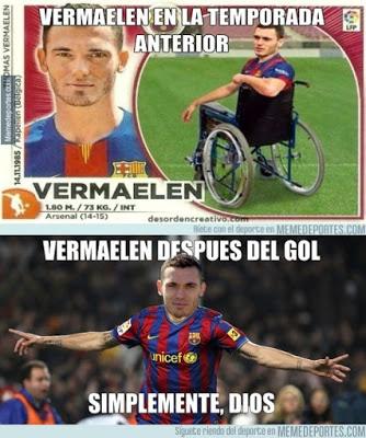Los mejores memes del Barcelona-Málaga: Jornada 2 vermaelen
