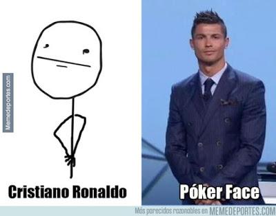 cristiano ronaldo poker face uefa best player
