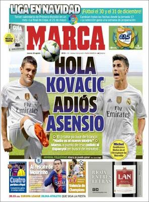 Portada Marca: Kovacic es presentado en el Real Madrid