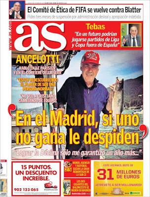 Portada AS: Ancelotti