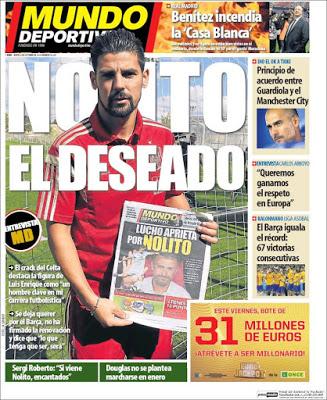 Portada Mundo Deportivo: Nolito