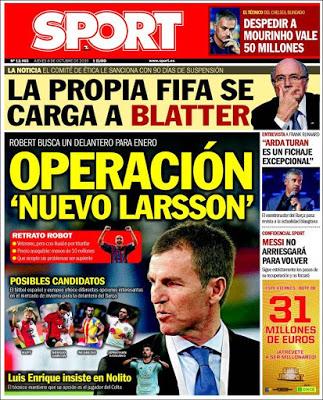 Portada Sport: Nuevo Larsson