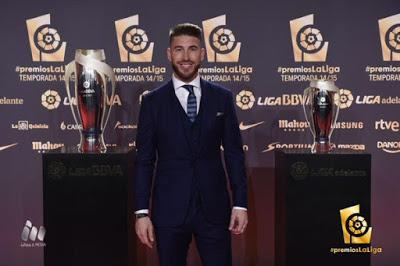 Imágenes de la gala Premios La Liga 2014-2015  sergio ramos