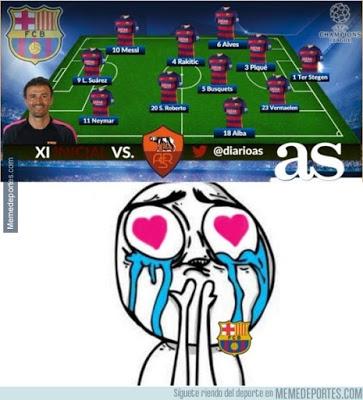 mejores memes del Barcelona-Roma: Champions 2015