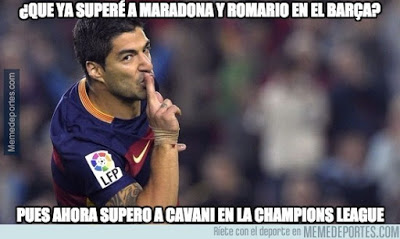 Los mejores memes del Barcelona-Roma: Champions 2015 luis suarez