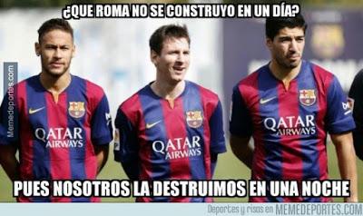 Los mejores memes del Barcelona-Roma: Champions 2015