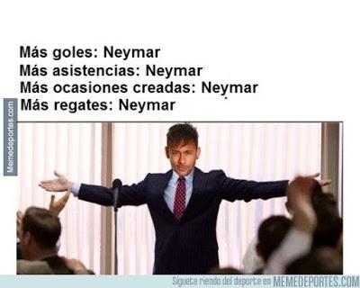 mejores memes del Barcelona-Roma: Champions 2015 neymar