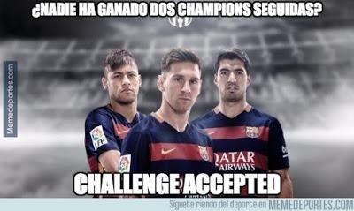 Los mejores memes del Barcelona-Roma: Champions 2015 msn messi suarez y neymar