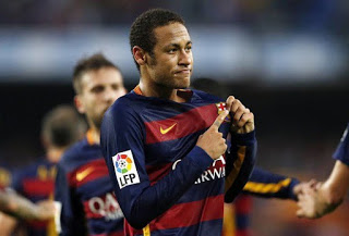 Barcelona 3-Villarreal 0. Jornada 11 Liga Española Neymar festeja uno de sus goles