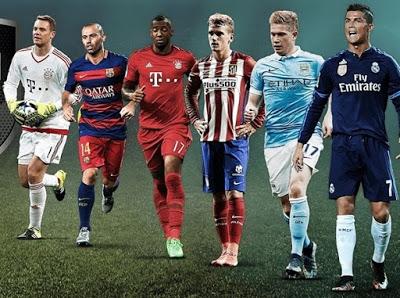 Equipo ideal del Año de la UEFA 2015: nominados toty