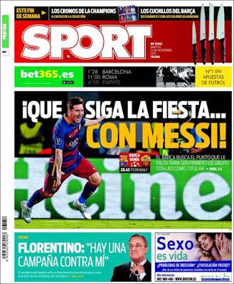 Portada Sport: Leo Messi es de champions