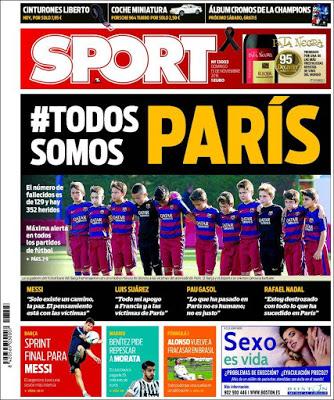 Portada Sport: #TodossomosParís