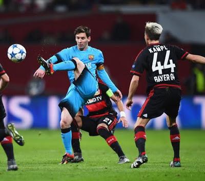 Leverkusen 1-Barcelona 1. Champions League