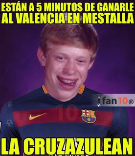 Los mejores memes del Valencia-Barcelona. Jornada 14