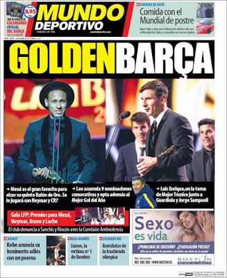 Portada Mundo Deportivo: Golden Barça
