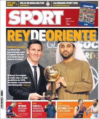 Portada Sport: Rey de Oriente