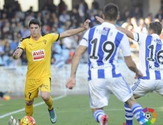 Real Sociedad 2-Eibar 1. Jornada 14 Liga Española