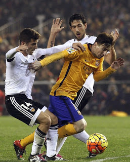 Valencia 1-FC Barcelona 1. Jornada 14 Liga Española