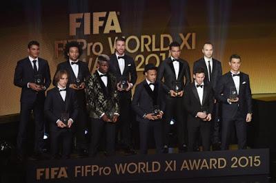 El 11 ideal FIFPro 2015