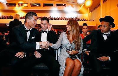 Las mejores imágenes de la gala del Balón Oro 2015 messi neymar cristiano y antonella