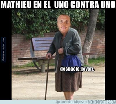 Los mejores memes del Barcelona-Athletic: Copa del Rey mathieu