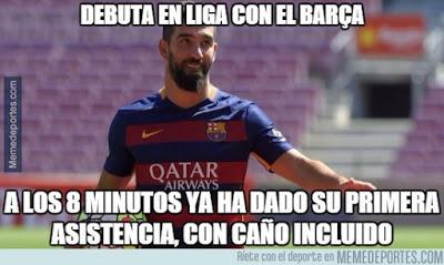 Los mejores memes del Barcelona-Granada. Jornada 19 asistencia turan messi