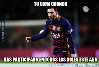 Los mejores memes del Barcelona-Granada. Jornada 19 messi