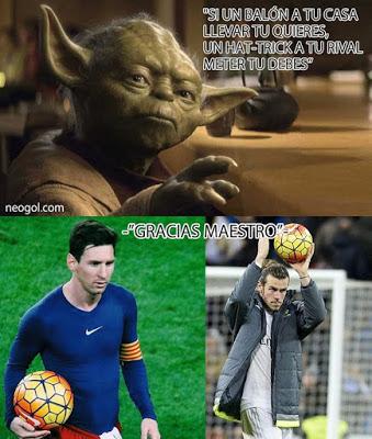 Los mejores memes del Real Madrid-Deportivo: Jornada 19 hat-trick bale maestro yoda