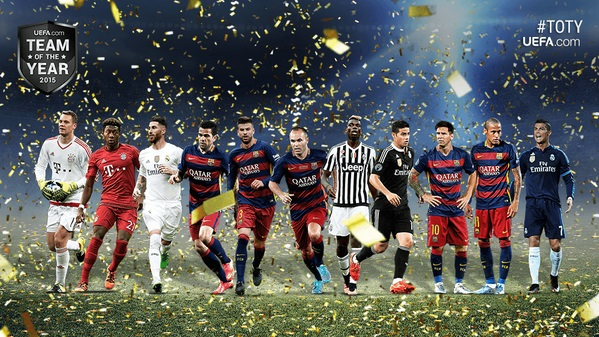 Once ideal UEFA 2015
