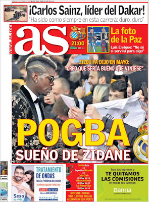 Portada AS: Pogba sueño de Zidane