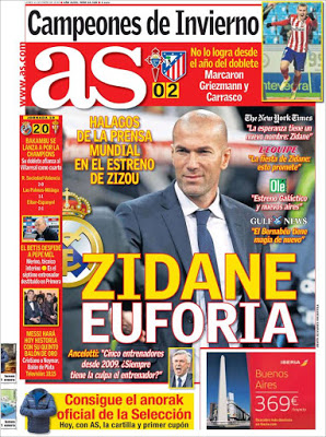 Portada AS: Euforia por Zidane