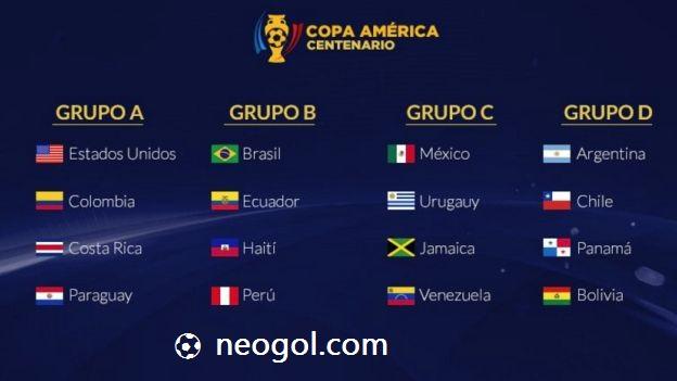 Fixture Copa América Centenario 2016