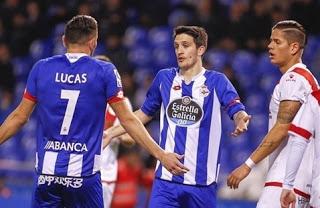 Deportivo 2-Rayo Vallecano 2. Jornada 22 Liga Española