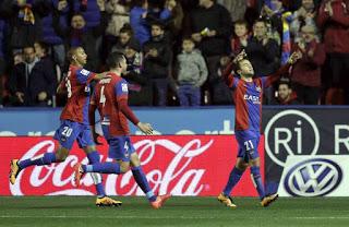 Levante 3-Getafe 0. Jornada 25 Liga Española