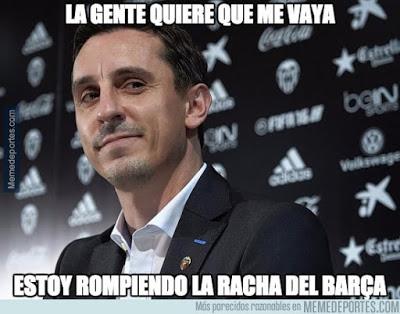 Los mejores memes del Valencia-Barcelona: Copa del Rey neville