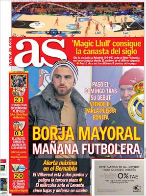 Portada AS: Borja Mayoral mañana futbolera
