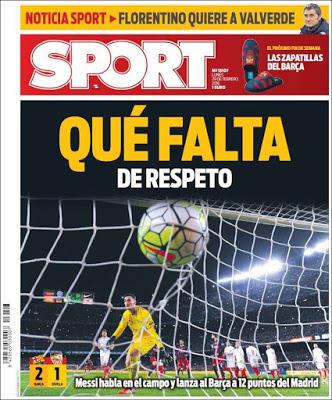 Portada Sport: que falta de respeto