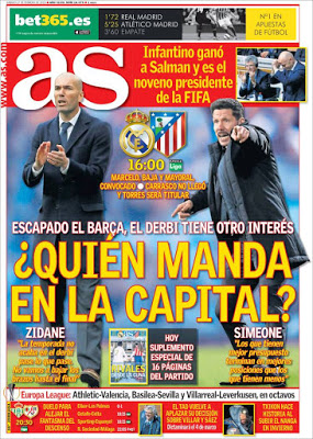 Portada AS: ¿Quién manda en la capital?
