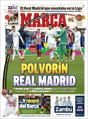 Portada Marca: polvorín Real Madrid