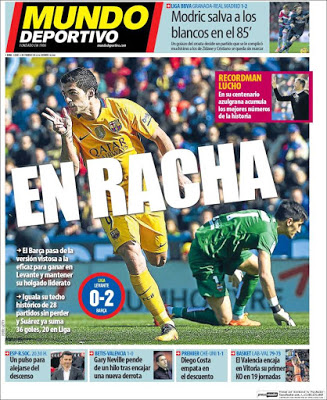 Portada Mundo Deportivo: en racha