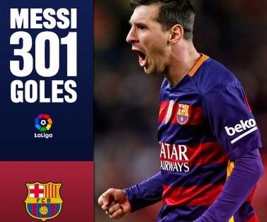 Sporting 1-Barcelona 3. Jornada 16 Liga Española Leo Messi 301 goles en liga