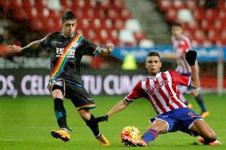 Sporting Gijón 2-Rayo Vallecano 2. Jornada 23 Liga Española