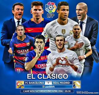 Alineación y previa del clásico Barcelona-Rea Madrid. Jornada 31