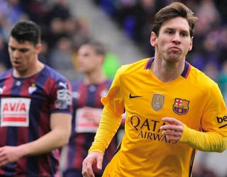 Eibar 0-Barcelona 4. Jornada 28 Liga Española messi