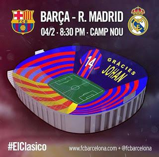 Gràcies Johan mosaico  homenaje johan cruyff clasico barcelona real madrid