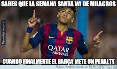 Los memes del Villarreal-Barcelona más divertidos. Liga BBVA penal neymar