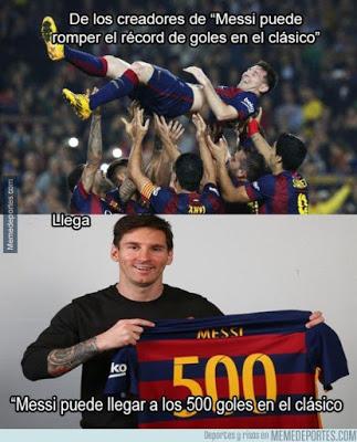 memes clasico messi 500 goles