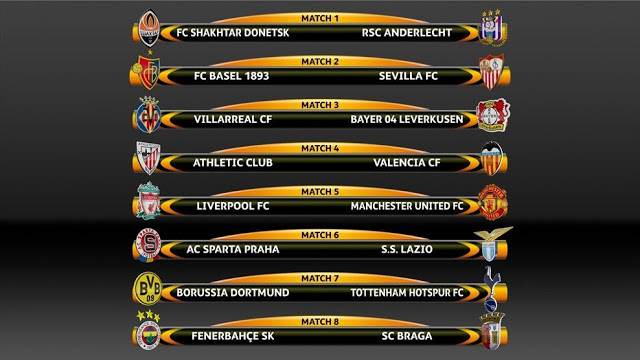 Octavos Europa League 2015-2016. Calendario